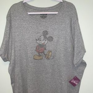 Disney Studded Mickey Mouse Tee size 4x (26/28)
